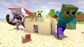 getlinkyoutube.com-Minecraft Escola Monstro #36 - Um Dia Na Praia !!  Monster School