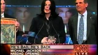 getlinkyoutube.com-Michael Jackson rings NASDAQ bell and eats birthday cake