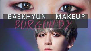 getlinkyoutube.com-EXO Baekhyun SMA 2014 Burgundy Makeup Tutorial || 엑소 백현 버건디 메이크업