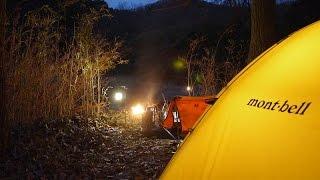 getlinkyoutube.com-ソロキャンプ 熱燗システムと100均ランタン