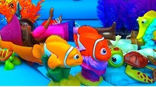 getlinkyoutube.com-Nemo & Marlin SAVE Jo featuring Lotso Dora Blythe LPS Dory Gill Bubbles Bruce Pearl Bloat Squirt