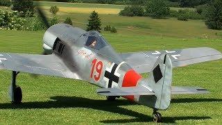 getlinkyoutube.com-Rc FW-190 with Moki 250cc Radial Engine
