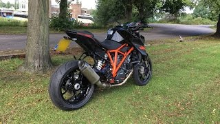 getlinkyoutube.com-KTM Super Duke 1290R Akrapovic Evo 2 Titanium Exhaust System
