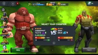 getlinkyoutube.com-Marvel Contest of Champions Act 3 - End game, Chapter 1, last part, Easily finishing with two champs