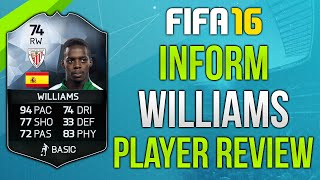 getlinkyoutube.com-FIFA 16 IF Williams Review (74) Fifa 16 Ultimate Team Player Review!