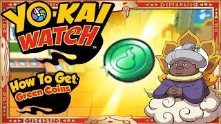 getlinkyoutube.com-Yo-Kai Watch - How To Get Infinite Green Coins & RARE Auntie Heart EASY! [Tips & Tricks]