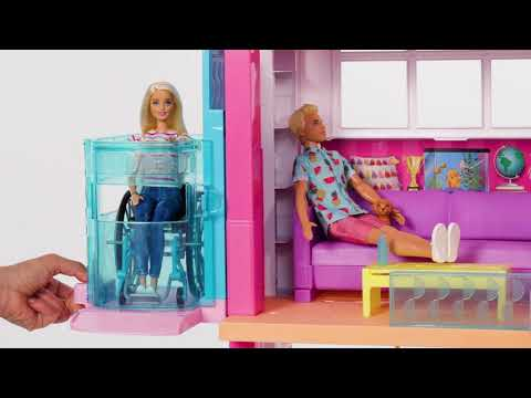Barbie Dreamhouse Playset with Pool, Slide and Wheelchair Accessible Elevator