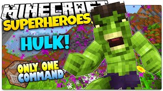 getlinkyoutube.com-Minecraft | How To Be A Superhero! | THE INCREDIBLE HULK | Only One Command (One Command Creation)