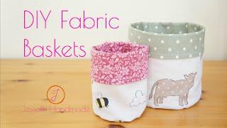 getlinkyoutube.com-DIY Fabric Baskets