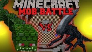 getlinkyoutube.com-Naga Vs. Alien - Minecraft Mob Battles - Twilight Forest and OreSpawn Mod