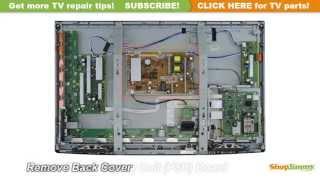getlinkyoutube.com-Panasonic LCD TV Repair - TV Won't Turn On - How to Replace Power Supply Board