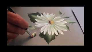 getlinkyoutube.com-One Stroke: How To Paint A Daisy