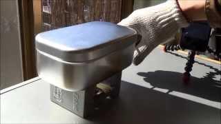 getlinkyoutube.com-2014.2.11 エスビット ポケットストーブ&メスティンで初炊飯した動画