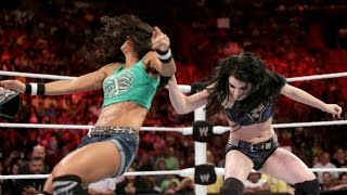 getlinkyoutube.com-WWE RAW 07.21.14 Paige & AJ Lee vs. Natalya & Emma (720p)