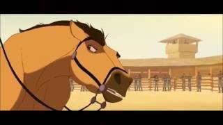 getlinkyoutube.com-Spirit the stallion of Cimarron - Spirit VS Colonel + Escape