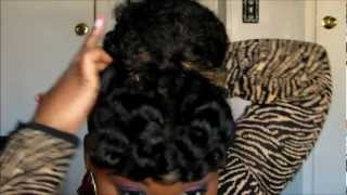 getlinkyoutube.com-Twist-Out Bun & Bang | Natural Hair Tutorial