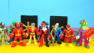 getlinkyoutube.com-Imaginext Justice League & DC Super Friends Fisher Price Characters Two-Face, The Flash