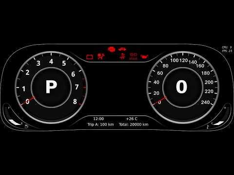 Графическая панель приборов в стиле AUDI (Digital cluster AUDI style)