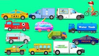 getlinkyoutube.com-Learn Street Vehicles | Toy Car | Video For Kids | Learn Transport | compiliation
