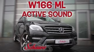 getlinkyoutube.com-Mercedes Benz W166 ML Active Sound V8 Motorsound Umbau | Schawe Car Design