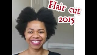 getlinkyoutube.com-New Haircut & Quick Length Check (4C natural hair 2015)