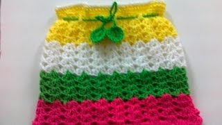 getlinkyoutube.com-Crochet Rainbow Skirt -2
