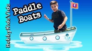 Paddle BOATS Family Fun! Lagoon Racing on Vacation HobbyKidsVids