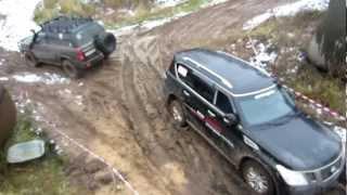 getlinkyoutube.com-Uaz Patriot,VW Amarok,Nissan Patrol,VW Touareg Оff road