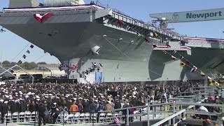 getlinkyoutube.com-USS Gerald R. Ford christening opening ceremony