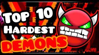 getlinkyoutube.com-GEOMETRY DASH / TOP TEN HARDEST DEMONS!! [1.9]
