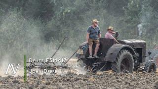 getlinkyoutube.com-Deutz F3M417 + 3schar Beetpflug - Ackern · ploughing
