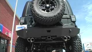 getlinkyoutube.com-2012 Jeep Wrangler 3.6 Liter with Custom Split Dual Exhaust by Kinney's (Flo~Pro muffler)