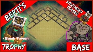 getlinkyoutube.com-Clash Of Clans: TH9 TROPHY WAR Base w/ BOMB TOWER + UPDATED & Old REPLAYS