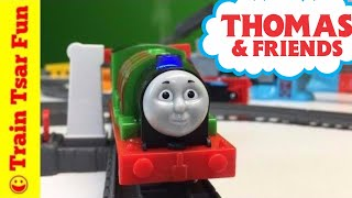 getlinkyoutube.com-Real Steam Percy The Small Engine Track Master Trains Thomas & Friends Fisher Price