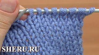 getlinkyoutube.com-Вяжем спицами Урок 2 способ 1 из 2 Лицевая петля