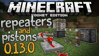 getlinkyoutube.com-PISTONS and REPEATERS in MCPE!!! - Redstone Plus Mod for 0.13.0 - Minecraft PE (Pocket Edition)