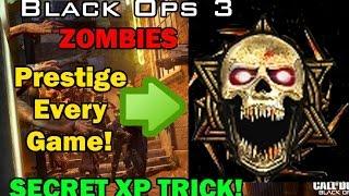 getlinkyoutube.com-Black Ops 3 Zombies: Instant Prestige Every Game! Xp Secret Trick