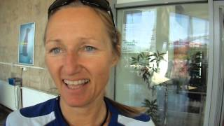 Intervista a fine gara di Andrea Mayer, compagna di Peterhansel, e sesta assoluta al Romanian Baja