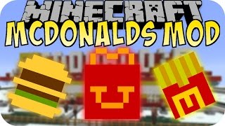 getlinkyoutube.com-Minecraft MCDONALDS MOD (Big Mac, McRib, Pommes) [Deutsch]