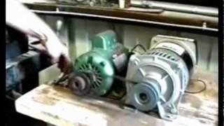 getlinkyoutube.com-WITTS 3000 Watt Generator Powers Itself, Grinder & Drill Press [www.witts.ws]