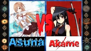 getlinkyoutube.com-Asuna (Sword Art Online) vs Akame (Akame Ga Kill!) - Ultimate Mugen Fight 2015