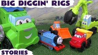 getlinkyoutube.com-Thomas and Friends Big Play Doh Diggin Rigs and Peppa Pig Stories | Accidents and Surprise Eggs