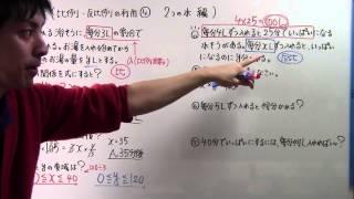 getlinkyoutube.com-【中1 数学】  中1-55  比例・反比例の利用④(2つの水編)