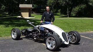getlinkyoutube.com-2009 Brimstone Quadracycle with Engine Start Up & We Take a Ride on My Car Story with Lou Costabile