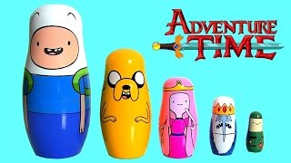 getlinkyoutube.com-Adventure Time Stacking Cups SURPRISE Toys Kinder Play-Doh Huevos Sorpresa Minions FROZEN
