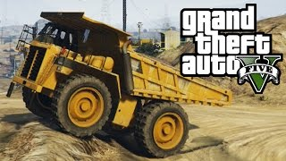 getlinkyoutube.com-GTA 5 - Dump Truck Mudding & Hill Climbing - 4x4 Off-Roading (GTA V Next Gen)