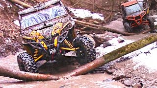 getlinkyoutube.com-Side by Side Trail Riding - Forest Frenzy - Polaris RZR XP 1000/900 + Can-Am Maverick X DS Max