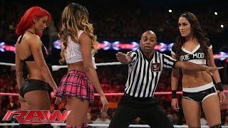 getlinkyoutube.com-Brie Bella vs. Cameron & Eva Marie – 2-on-1 Handicap Match: Raw, Sept. 29, 2014