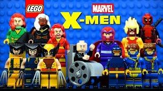 getlinkyoutube.com-LEGO X-Men 76022 Minifigures with Professor X Wolverine Cyclops Magneto Phoenix & Deadpool