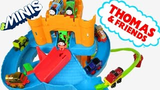 getlinkyoutube.com-NEW! THOMAS AND FRIENDS MINIS TANK ENGINE SPIRAL TWIST SPIN RACE TRACK